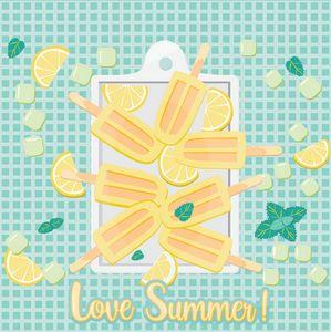 Love Summer Love Ice lollies