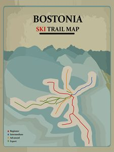 Bostonia Ski Trail Map