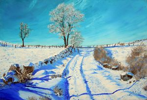 Snow landscape.