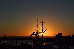 The Lady Washington at Sunrise