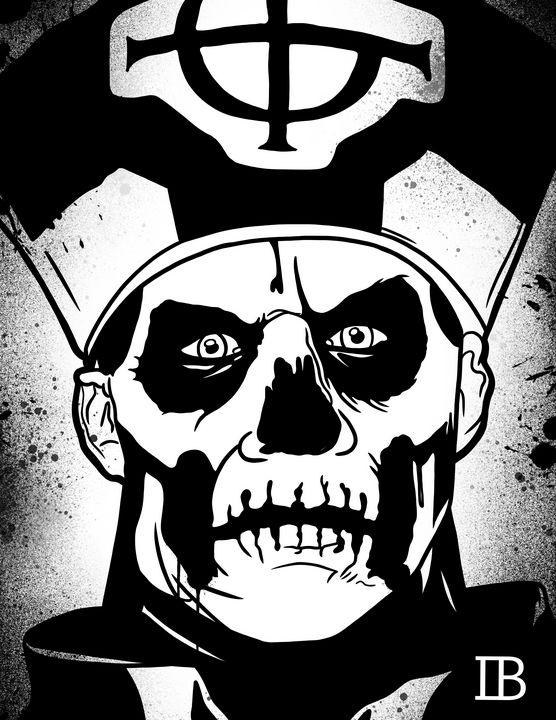 Papa Emeritus (Ghost) - Ian Bennett Art