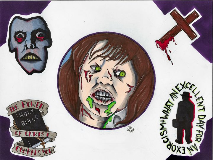 The Exorcist Tattoo Flash - Ian Bennett Art