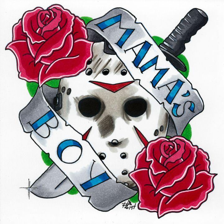 Jason Voorhees Tattoo Flash - Ian Bennett Art