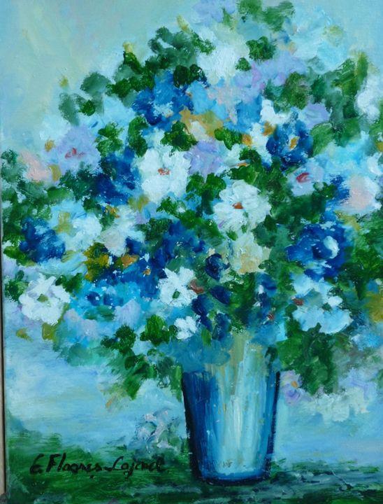 Blue Flowers - Elena Floares Cojenel