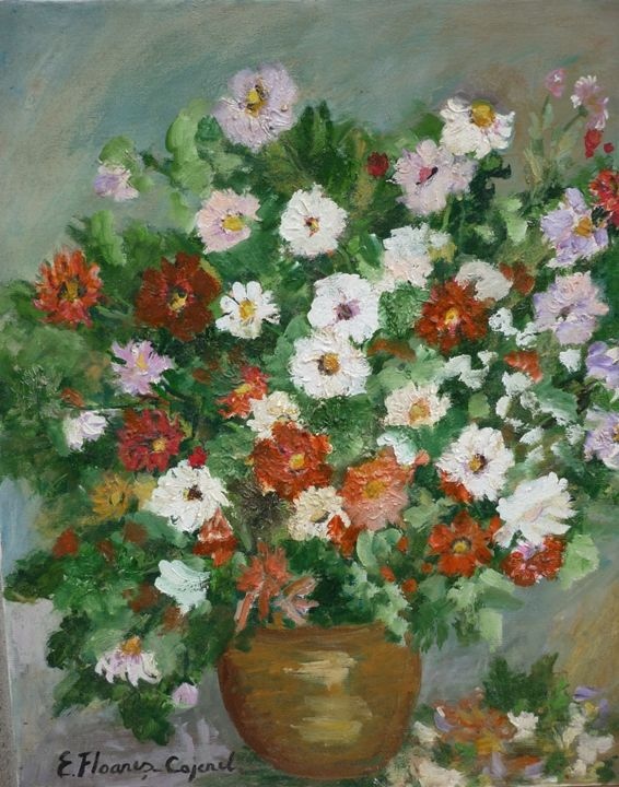 White and Red Flowers - Elena Floares Cojenel