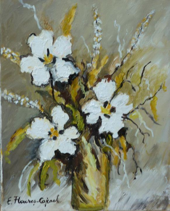 Withe flowers 2 - Elena Floares Cojenel