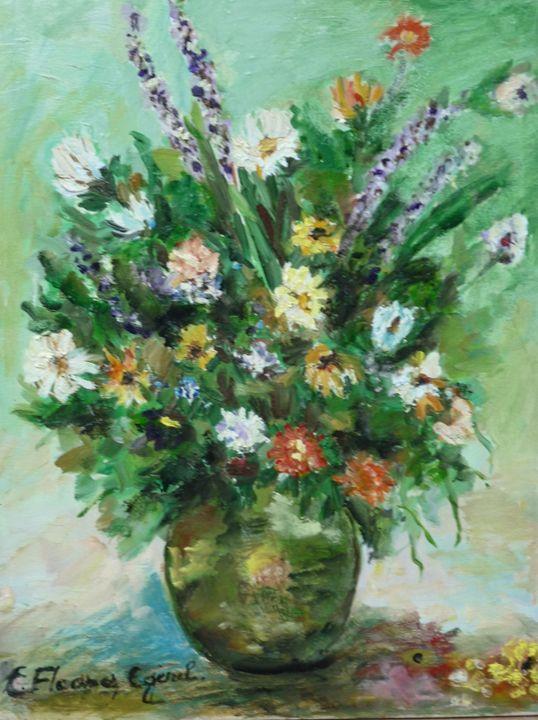 Wildflowers in a Vase - Elena Floares Cojenel