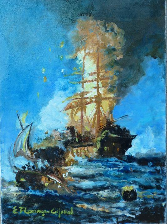 Burning Ship - Elena Floares Cojenel
