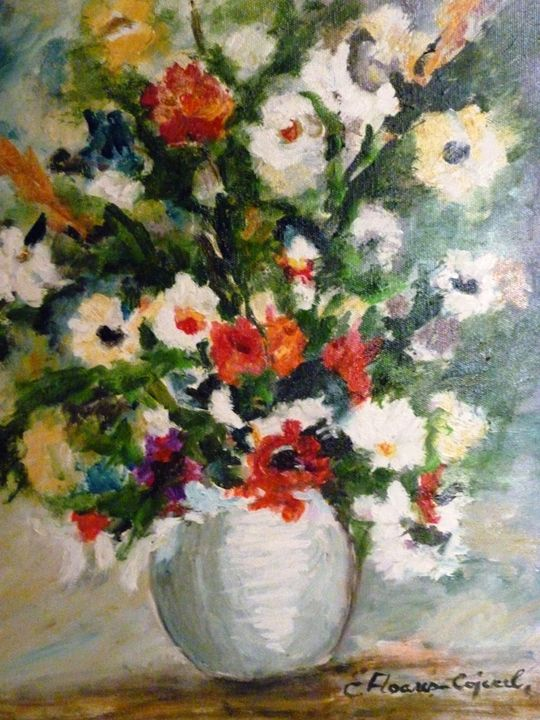ed and White Flowers 2 - Elena Floares Cojenel