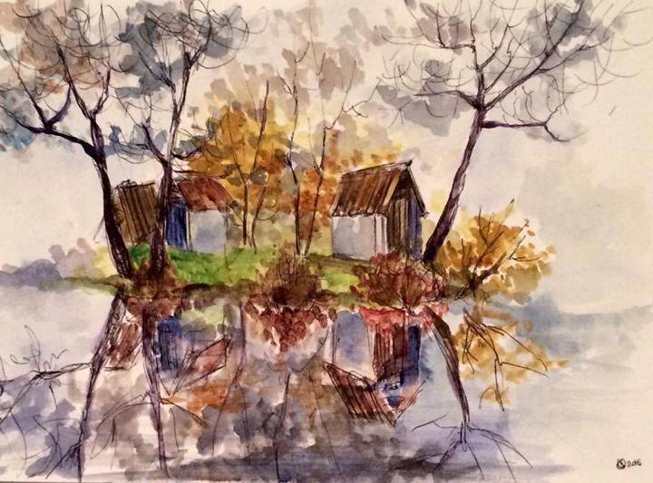 House on an island - Oksana Gulina