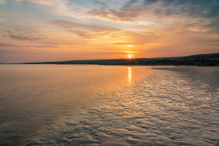 Sunset at Traeth Mawr - Palombella Hart Photography