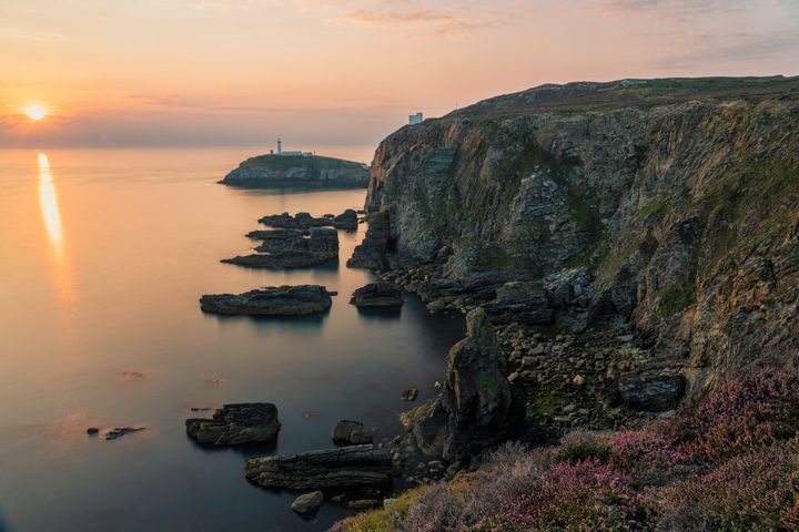 Sunset at South Stack Lighthouse - Palombella Hart Photography