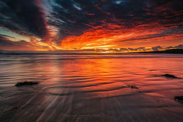 A Beautiful Sunset at Traeth Mawr - Palombella Hart Photography