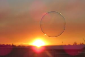 Bubble in sunset