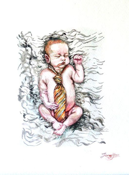Cute Baby Portrait - ArtbyJennyYao