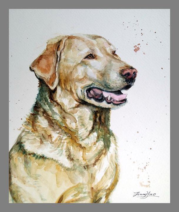 Dog Portrait - ArtbyJennyYao