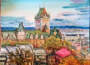Quebec Watercolor Painting