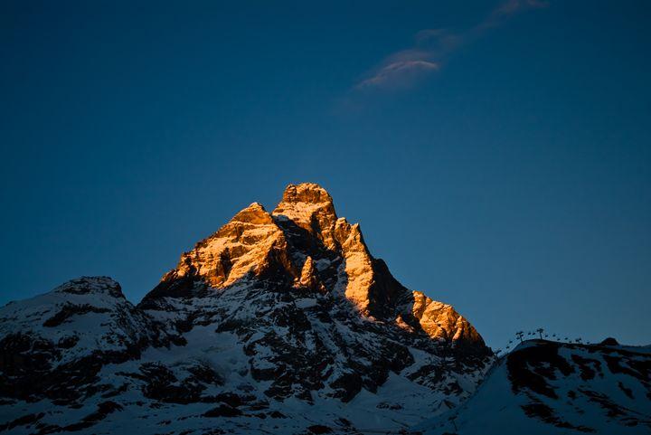 Sunset on the mountain - Pluffys portfolio