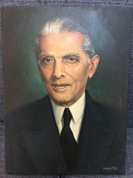 Quaid-e-Azam Mohammad Ali Jinnah - OilOnCanvas