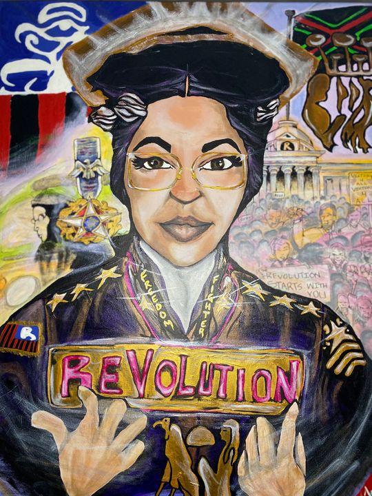 "Rosa Parks (original piece) - ""BWTIII"" REVOLUTION of ART"