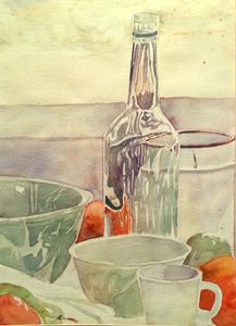 Still Life with Bottle and Oranges