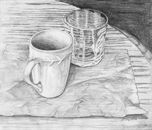 Still Life with Cup and Glass