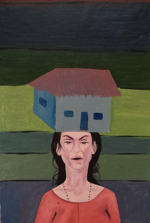 life struggle of a woman - paintings4u