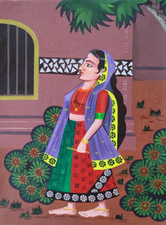 indian religious charactor radha - paintings4u