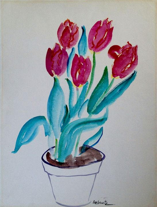 "Mother's Day Tulips - Joan Liebowitz ~ ""Artist To The Stars"""