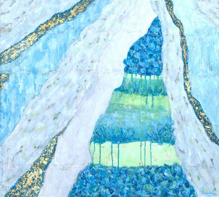 WATERFALL OF FLOWERS - Marilion Fine Art