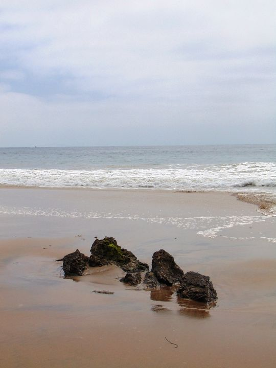 Rocks on The Beach - Markell Smith Gallery