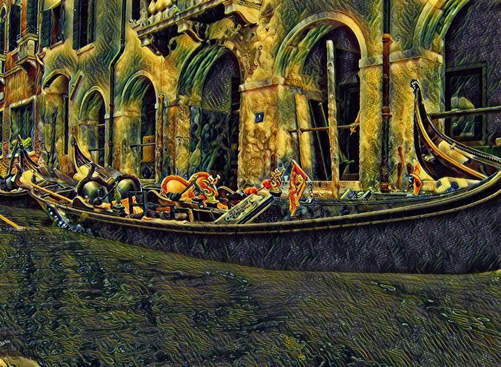 Venetian Gondola - Markell Smith Gallery