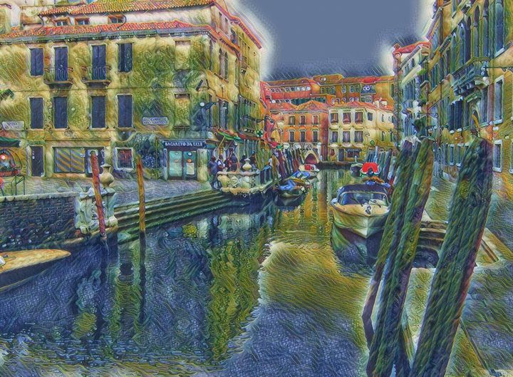 The Venetian Canal - Markell Smith Gallery