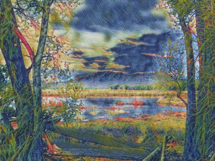The Desert Pond - Markell Smith Gallery