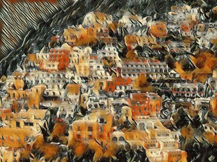 The Town of Amalfi - Markell Smith Gallery