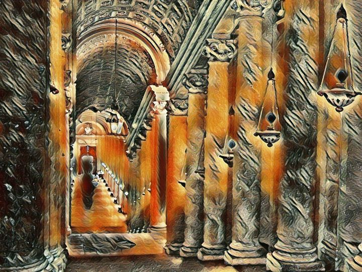 The Vatican Hallway - Markell Smith Gallery