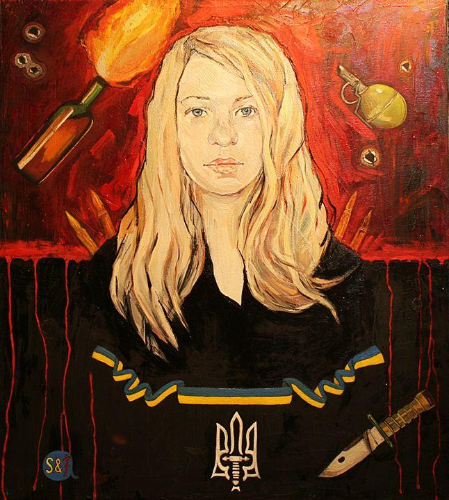 Ukrainian hero - Fia Van den Berg