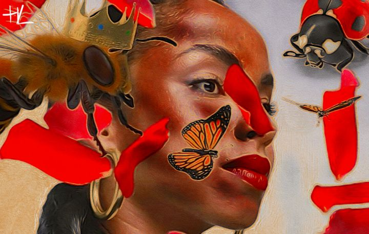 Bee Queen Elegance - HUMBLELIVINGG ARTZ