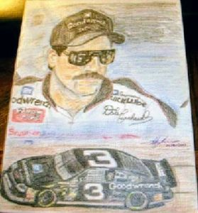 Pencil drawing of Dale Earnhardt Sr