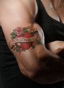 FCK COVID-19 Tattoo Art