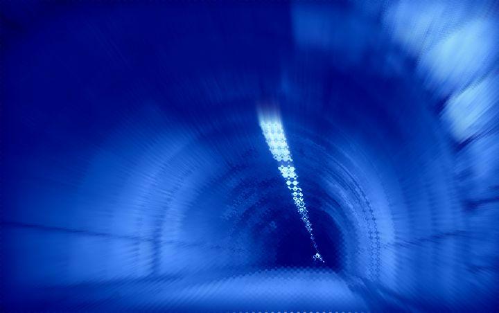 Blue Wormhole in Space - watch out f - Christine aka stine1
