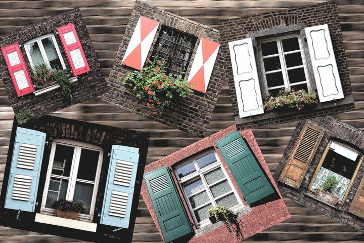 Vintage Windows Photo Collage - Christine aka stine1