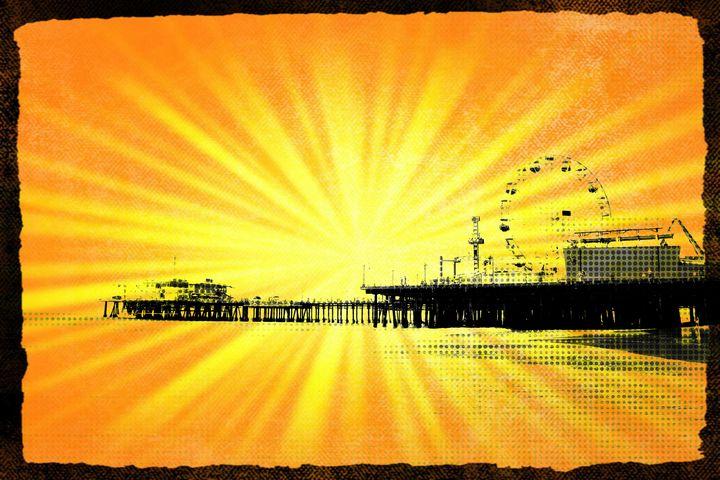 Santa Monica Pier Yellow Sunburst - Christine aka stine1