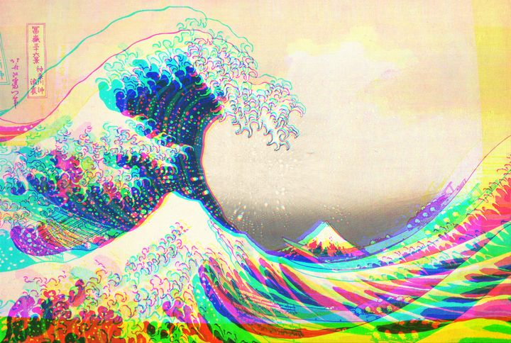 The funky Great Wave off Kanagawa - Christine aka stine1