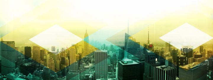 Artsy NYC New York City Skyline - Christine aka stine1