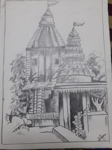 Drawing of temple