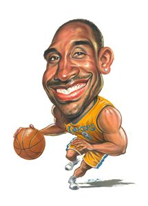 Caricature of Kobe Bryant