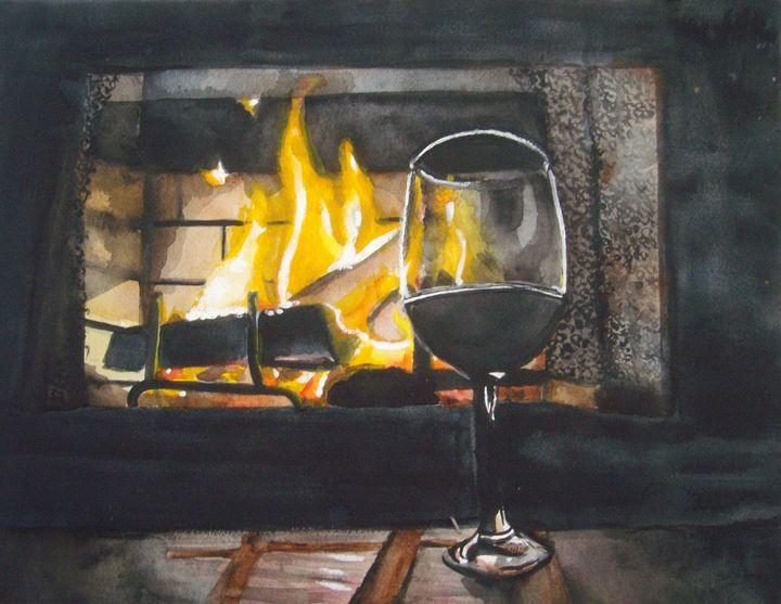 "Watercolor/Gouache ""Friday Night"" - Alexander Maurer"