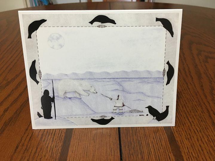 Unique inupiaq greeting cards - Misak inupiaq art