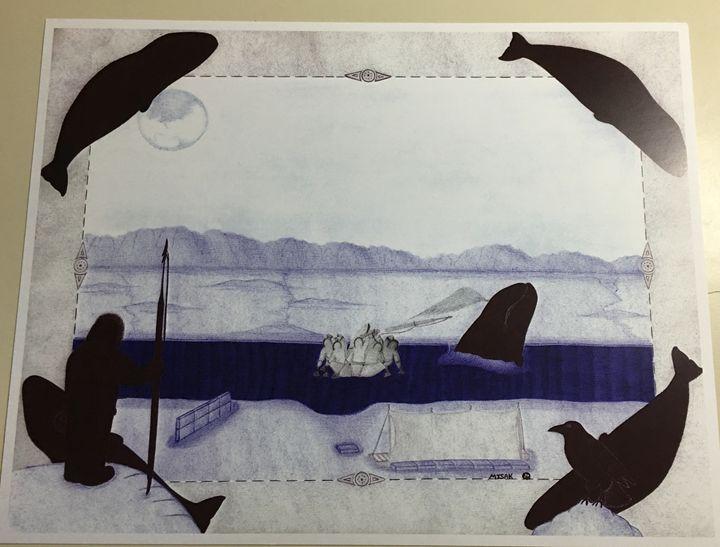 Unique inupiaq print - Misak inupiaq arts